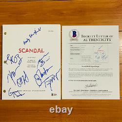 SCANDAL SIGNED PILOT SCRIPT BY 8 CAST MEMBERS TONY GOLDWYN with BECKETT COA