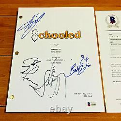 SCHOOLED SIGNED PILOT SCRIPT BY 4 CAST with BECKETT COA AJ MICHALKA BRETT DIER