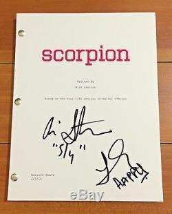 SCORPION SIGNED PILOT SCRIPT BY JADYN WONG & ARI STIDHAM w /PROOF & COA
