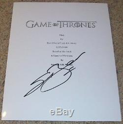 SEAN BEAN SIGNED AUTOGRAPH GAME OF THRONES 61 PAGE PILOT SCRIPT withEXACT PROOF