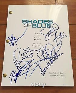 SHADES OF BLUE SIGNED FULL PILOT SCRIPT BY x7 CAST with EXACT PROOF WARREN KOLE