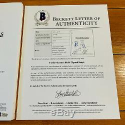 SHADOWHUNTERS SIGNED PILOT SCRIPT BY 4 CAST with BECKETT BAS COA