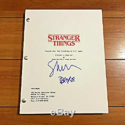 SHANNON PURSER SIGNED STRANGER THINGS PILOT SCRIPT w CHARACTER NAME BARB PROOF