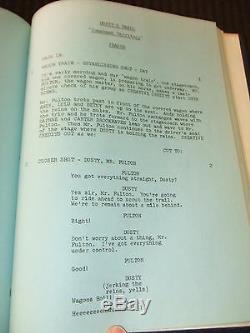 SIGNED 1972 Dusty's Trail PILOT TV Script Bob Denver Forrest Tucker HC Bound FOY