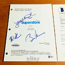 SUPERSTORE SIGNED PILOT SCRIPT BY 3 CAST MEMBERS BEN FELDMAN with BECKETT BAS COA