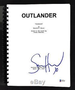 Sam Heughan Authentic Signed Outlander TV Pilot Sassenach Script BAS #F99159