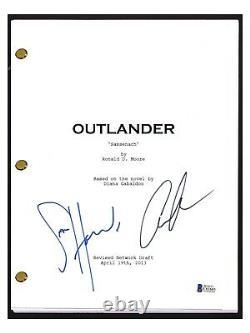 Sam Heughan Caitriona Balfe Signed Autograph Outlander Pilot Script Beckett COA