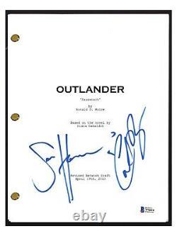 Sam Heughan & Caitriona Balfe Signed OUTLANDER Pilot Script Beckett BAS COA