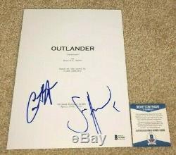 Sam Heughan Caitriona Balfe Signed Outlander Full Pilot Sassenach Tv Script Bas