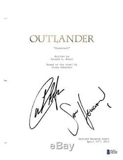 Sam Heughan Caitriona Balfe Signed Outlander Pilot Script Beckett Bas Autograph
