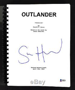 Sam Heughan Outlander Authentic Signed TV Pilot (Sassenach) Script BAS #H60037