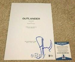 Sam Heughan Signed Outlander Full Pilot Sassenach Tv Script Jamie Fraser Bas