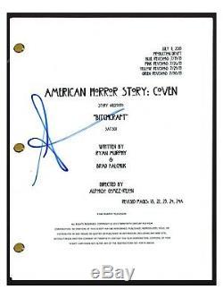 Sarah Paulson Signed Autograph AMERICAN HORROR STORY COVEN Pilot Script COA AB