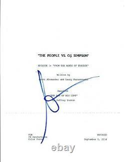 Sarah Paulson Signed Autograph THE PEOPLE VS O. J. SIMPSON Pilot Script OJ COA AB
