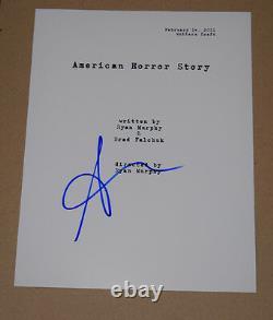 Sarah Paulson Signed Autographed American Horror Story Pilot Episode Script COA