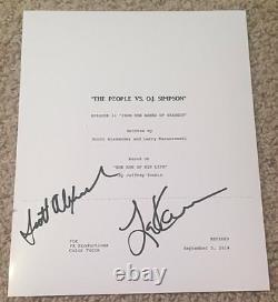 Scott Alexander & Larry Karaszewski Signed The People Vs Oj Simpson Pilot Script