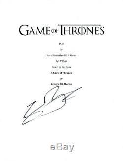 Sean Bean Signed Autographed GAME OF THRONES Pilot Episode Script COA