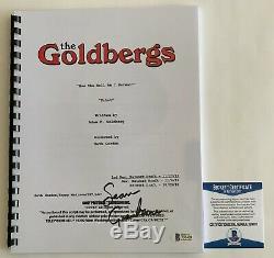 Sean Giambrone Autographed The Goldbergs Pilot Episode Script Signed Beckett COA