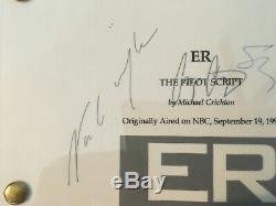 Signed script Pilot Episode ER George Clooney. Michael Crichton