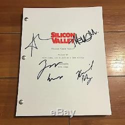 Silicon Valley Signed Pilot Script By 4 Cast Thomas Middleditch Amanda Crew