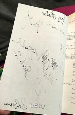Sopranos Pilot Script Autographed by 14 James Gandolfini Bracco Edie Falco