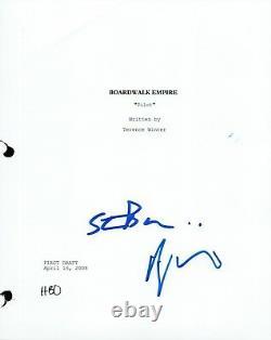 Steve Buscemi & Terence Winter Signed BOARDWALK EMPIRE Pilot Script COA VD