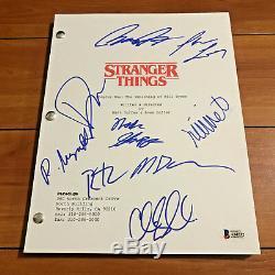 Stranger Things Signed Pilot Script By 9 Cast Millie Bobby Browb Beckett Bas Coa