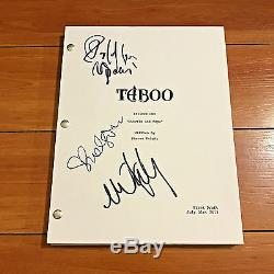 TABOO SIGNED FULL PILOT EPISODE SCRIPT BY 3 CAST withPROOF PHOTOS OONA CHAPLIN