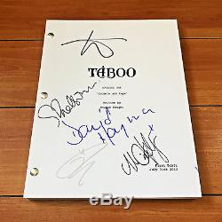 TABOO SIGNED FULL PILOT SCRIPT BY 5 CAST withPROOF TOM HARDY OONA CHAPLIN +MORE