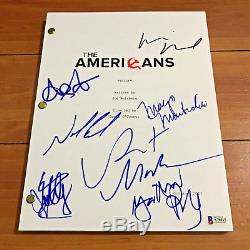 THE AMERICANS SIGNED PILOT SCRIPT BY 7 CAST MATTHEW RHYS KERI RUSSELL with COA