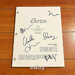 THE CATCH SIGNED FULL PILOT SCRIPT BY 5 CAST MEMBERS with PROOF MIREILLE ENOS