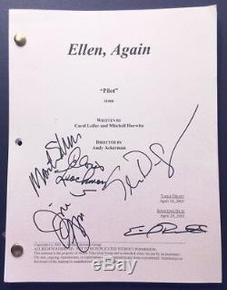 THE ELLEN SHOW Cast Signed Pilot Script Ellen DeGeneres Cloris Leachman + 3