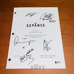 THE EXPANSE SIGNED PILOT SCRIPT BY 5 CAST STEVEN STRAIT with BECKETT BAS COA