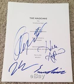 THE MAGICIANS CAST SIGNED AUTOGRAPH FULL PILOT SCRIPT withPROOF SUMMER BISHIL +3