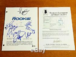 THE ROOKIE SIGNED FULL PILOT SCRIPT BY 6 CAST NATHAN FILLION with BECKETT BAS COA