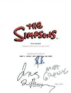 THE SIMPSONS Signed Pilot Script Matt Groening James L Brooks Harry Shearer COA
