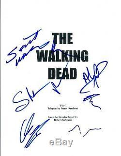 THE WALKING DEAD Cast Signed Autographed Pilot Script Norman Reedus +6 COA VD