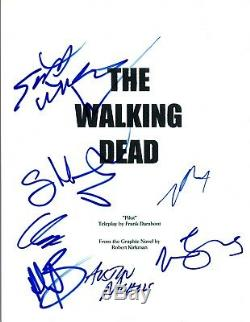 THE WALKING DEAD Cast Signed Autographed Pilot Script Norman Reedus +7 COA VD
