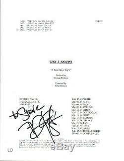 T. R. Knight TR Signed Autographed Grey's Anatomy Pilot Episode Script COA