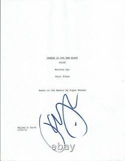Taylor Schilling Signed Autographed ORANGE IS THE NEW BLACK Pilot Script COA VD