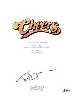 Ted Danson Signed Cheers Pilot Episode Script Beckett Bas Autograph Auto