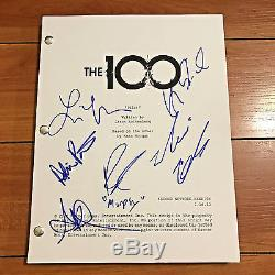 The 100 Hundred Signed Full Pilot Script By 5 Cast Members Marie Avgeropoulos