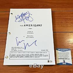 The Americans Signed Pilot Script By Keri Russel & Matthew Rhys Beckett Bas Coa