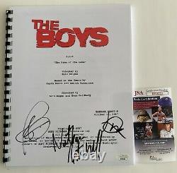 The Boys Pilot Episode Full Script Cast Signed X3 Autographed Jack Quaid JSA COA