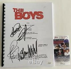 The Boys Pilot Episode Full Script Cast Signed X4 Autographed Jack Quaid JSA COA