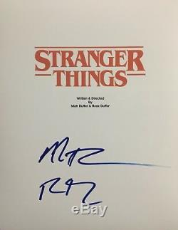 The Duffer Brothers Signed Stranger Things Full Script Autograph Pilot Episode