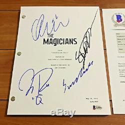 The Magicians Signed Pilot Script By 4 Cast Jason Ralph Stella Maeve Coa