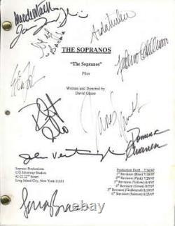 The Sopranos Cast Signed 1997 Pilot Episode Script Gandolfini +10 PSA/DNA