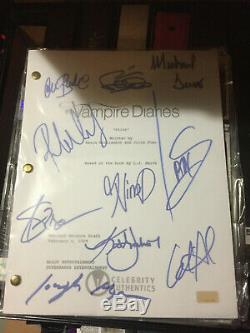 The Vampire Diaries Autographed Pilot Script Sign by 10 Dobrev Somerhalder Proof