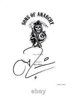 Theo Rossi Signed Autographed SONS OF ANARCHY Pilot Episode Script Juice COA